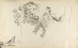 f.38'   Sketch map of the Khyber Pass.  By A. Christie.'